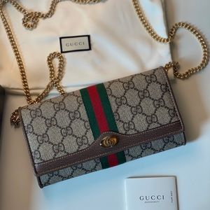 GUCCI Ophidia GG Chain Wallet
